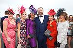 Enjoying Ladies Day at the Listowel Races on Friday and meeting Daithi O Se were: Sheila O'Sullivan, Jordanna O'Connor, Tasha O'Connor, Mary Wolfe and Siobhan Kennedy