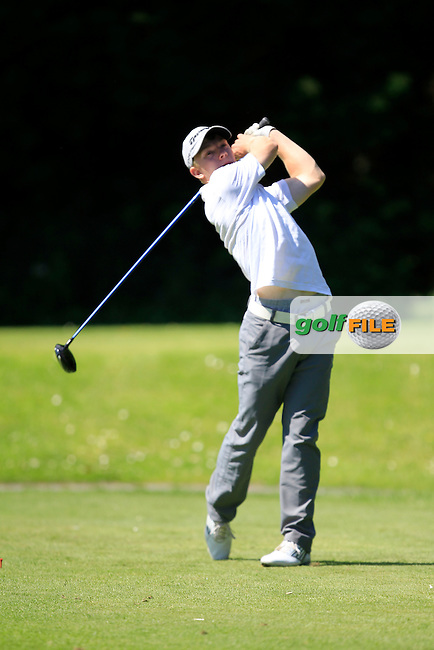 Cathal Butler (Kinsale) on the 9th tee during Round 2 of the Ulster Boys' Amateur Open Championship in Clandeboye Golf Club on Wednesday 9th July 2014.<br /> Picture:  Thos Caffrey / www.golffile.ie