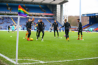 A general view of a rainbow corner flag inside Ewood Park, home of Blackburn Rovers FC<br /> <br /> Photographer Alex Dodd/CameraSport<br /> <br /> The EFL Sky Bet Championship - Blackburn Rovers v Hull City - Saturday 26th January 2019 - Ewood Park - Blackburn<br /> <br /> World Copyright © 2019 CameraSport. All rights reserved. 43 Linden Ave. Countesthorpe. Leicester. England. LE8 5PG - Tel: +44 (0) 116 277 4147 - admin@camerasport.com - www.camerasport.com