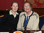 Anne Anderson and Breige Taaffe pictured at the Collon Senior Citizens Christmas party in Watter's. Photo:Colin Bell/pressphotos.ie