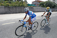 Javier Aramendia (r) and Adrian Palomares during the stage of La Vuelta 2012 between Ponteareas and Sanxenxo.August 28,2012. (ALTERPHOTOS/Paola Otero) /NortePhoto.com<br /> <br /> **CREDITO*OBLIGATORIO** <br /> *No*Venta*A*Terceros*<br /> *No*Sale*So*third*<br /> *** No*Se*Permite*Hacer*Archivo**<br /> *No*Sale*So*third*