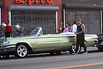 October 4th 2011   Exclusive...Benji Madden driving a Classic convertible vintage Ford Galaxie 500XL in puke green..Hollywood California ....AbilityFilms@yahoo.com.805-427-3519.www.AbiliyFilms.com.