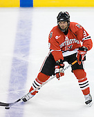 Jacques Perreault (NU - 9) - The Northeastern University Huskies defeated the Harvard University Crimson 3-1 in the Beanpot consolation game on Monday, February 12, 2007, at TD Banknorth Garden in Boston, Massachusetts.