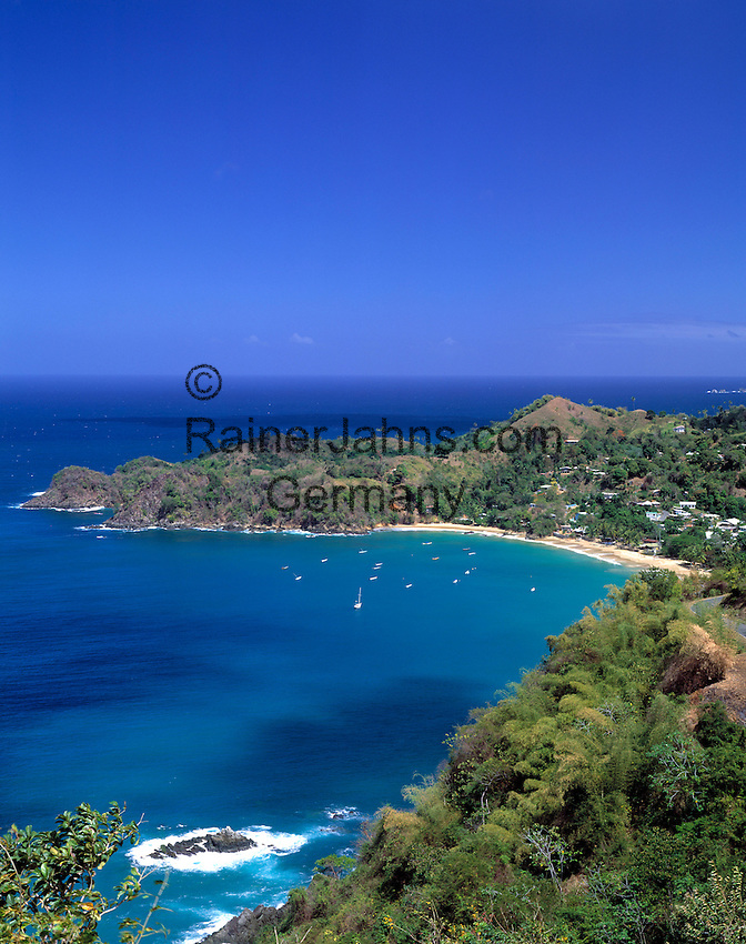 Trinidad & Tobago, Commonwealth, Tobago, Castara Bay: fishing village Castara with beautiful beach