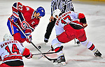 21 December 2008: Montreal Canadiens' right wing forward Alexei Kovalev from Russia takes a faceoff in the second period against the Carolina Hurricanes at the Bell Centre in Montreal, Quebec, Canada. The Hurricanes defeated the Canadiens 3-2 in overtime. ***** Editorial Sales Only ***** Mandatory Photo Credit: Ed Wolfstein Photo