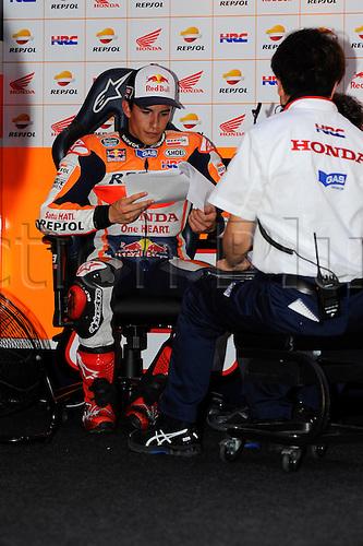 28.03.2015. Losail, Doha. MotoGP. Qatar Grand Prix Qualifying. Marc Marquez (Repsol Honda team) during qualifying sessions
