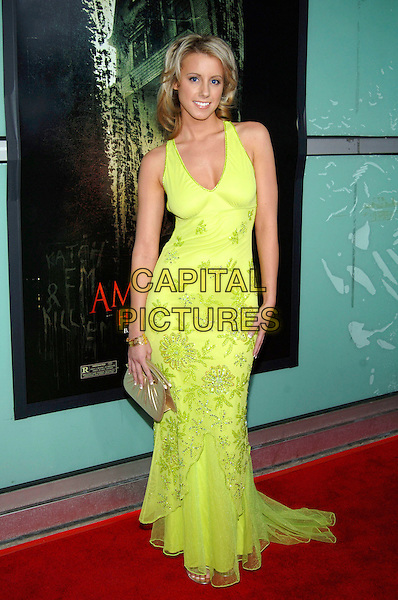 "CHERYL CAMPBELL.""The Amityville Horror"" World Premiere held at the ArcLight Cinerama Dome, Hollywood, California, USA,.07 April 2005..full length lime green dress.Ref: ADM.www.capitalpictures.com.sales@capitalpictures.com.©Jacqui Wong/AdMedia/Capital Pictures."