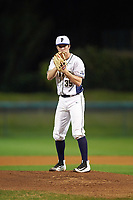 Pitt Panthers starting pitcher Aaron Sandefur (35) gets ready to deliver a pitch during a game against the Ohio State Buckeyes on February 20, 2016 at Holman Stadium at Historic Dodgertown in Vero Beach, Florida.  Ohio State defeated Pitt 11-8 in thirteen innings.  (Mike Janes/Four Seam Images)