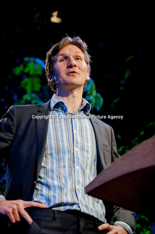 Friday 30 May 2014, Hay on Wye, UK<br /> Pictured: James Evans <br /> Re: The Hay Festival, Hay on Wye, Powys, Wales UK.