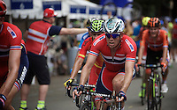 Alexander Kristoff (NOR/Katusha) coming through the feedzone<br /> <br /> Elite Women Road Race<br /> UCI Road World Championships Richmond 2015 / USA