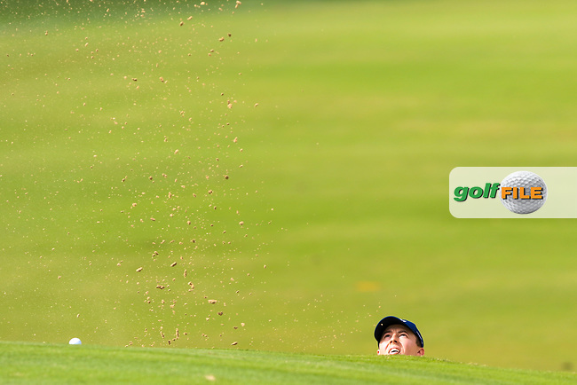 Matthew Fitzpatrick (ENG) on the 3rd during Round 1 of the Omega Dubai Desert Classic, Emirates Golf Club, Dubai,  United Arab Emirates. 24/01/2019<br /> Picture: Golffile | Thos Caffrey<br /> <br /> <br /> All photo usage must carry mandatory copyright credit (© Golffile | Thos Caffrey)