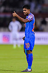 Pritam Kotal of India (L) reacts during the AFC Asian Cup UAE 2019 Group A match between India (IND) and Bahrain (BHR) at Sharjah Stadium on 14 January 2019 in Sharjah, United Arab Emirates. Photo by Marcio Rodrigo Machado / Power Sport Images