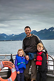 USA, Alaska, Seward, passengers on the boat exploring Resurrection Bay on the way to Holgate Glacier