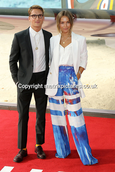NON EXCLUSIVE PICTURE: MATRIXPICTURES.CO.UK<br /> PLEASE CREDIT ALL USES<br /> <br /> WORLD RIGHTS<br /> <br /> Made In Chelsea star Oliver Proudlock and Emma Connolly attend the World Premiere of Dunkirk at Odeon Leicester Square in London.<br /> <br /> JULY 13th 2017<br /> <br /> REF: MES 171540