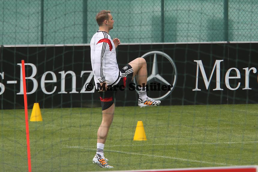 Manuel Neuer im Einzeltraining - Abschlusstraining der Deutschen Nationalmannschaft  im Rahmen der WM-Vorbereitung in St. Martin