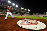 19 May 2012: Washington Nationals shortstop Ian Desmond stands on deck during game action against the Baltimore Orioles at Nationals Park in Washington, DC. The Orioles defeated the Nationals 6-5 in the second game of their 3-game series. Mandatory Credit: Ed Wolfstein Photo