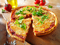 Italian cheese Pizza with rocket - margerita photos. Funky Stock pizzas photos