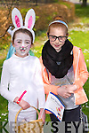 Rachel O'Sullivan and Ellie O'Connor at the Kids Fancy Dress Easter Fun Run in Tralee Town Park on Saturday