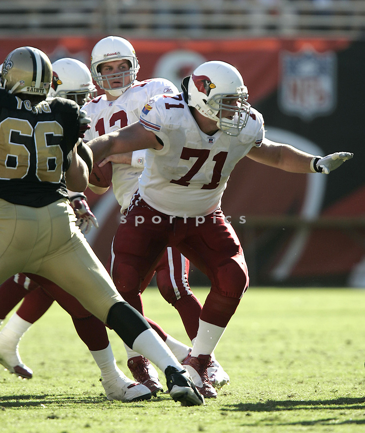 Ross Kolodziej during the Cardinals v. Saints football game on October 3, 2004.Cardinals win 34-10..Dilip Vishwanat / SportPics