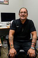 USA, Nebraska, Stadt Macy, Omaha Reservation, chairman Michael D. Wolfe