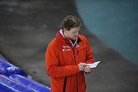 SCHAATSEN: GRONINGEN: Sportcentrum Kardinge, 03-02-2013, Seizoen 2012-2013, Gruno Bokaal, Peter Kolder (trainer Team Corendon), ©foto Martin de Jong