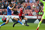 Matt Done of Sheffield Utd attempts to lob during the League One match at Bramall Lane Stadium, Sheffield. Picture date: September 17th, 2016. Pic Simon Bellis/Sportimage