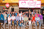 RUBY ANNIVERSARY: Jerry and Eileen Dowd, Boulia, Firies (seated centre) got a big surprise when a very large group of family and friends gathered to celebrate their Ruby Anniversary at Pat Sheehan's bar, Firies on Friday.