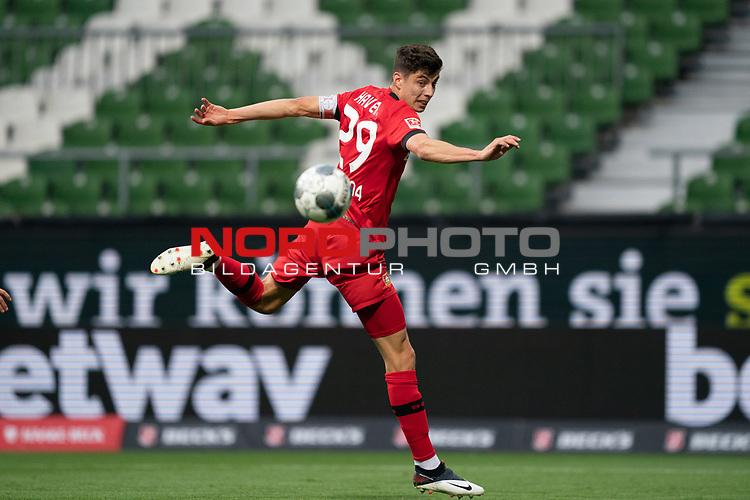 Kai Havertz (Leverkusen #29),  <br /> <br /> Sport: Fussball: 1. Bundesliga: Saison 19/20: <br /> 26. Spieltag: SV Werder Bremen vs Bayer 04 Leverkusen, 18.05.2020<br /> <br /> Foto ©  gumzmedia / Nordphoto / Andreas Gumz / POOL <br /> <br /> Nur für journalistische Zwecke! Only for editorial use!<br />  DFL regulations prohibit any use of photographs as image sequences and/or quasi-video.