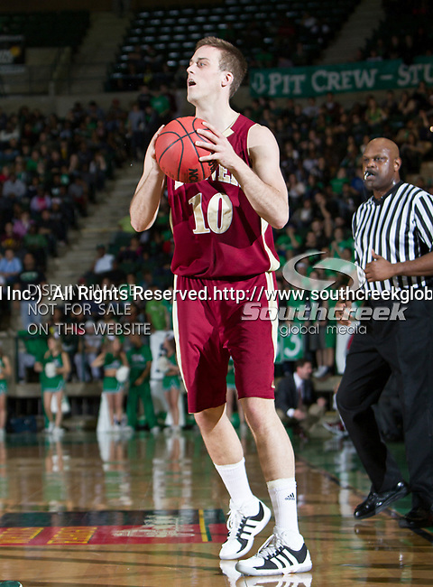 Denver Pioneers forward Rob Lewis (10) in action during the game between the Denver Pioneers and the University of North Texas Mean Green at the North Texas Coliseum,the Super Pit, in Denton, Texas. UNT defeated Denver 75 to 74 in overtime.