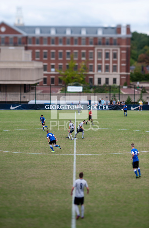 The second half starts  at Shaw Field on the campus of the Georgetown University in Washington, DC.  Georgetown tied Creighton, 0-0, in double overtime.
