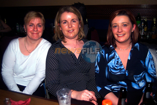 Gean Shields,Matina OConnor Daysa, and Debbie Hughes Kierans at the Gerry Hughes Concert in the Bridgeford...Pic Tony Campbell/Newsfile