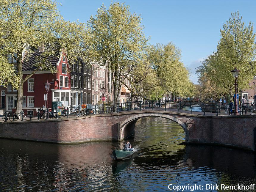 Reguliersgracht und Prinsengracht in Amsterdam, Provinz Nordholland, Niederlande<br /> Reguliersgracht and Prinsengracht in Amsterdam, Province North Holland, Netherlands