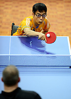 James Kwon (AUS)<br /> 2013 ITTF PTT Oceania Regional<br /> Para Table Tennis Championships<br /> AIS Arena Canberra ACT AUS<br /> Wednesday November 13th 2013<br /> © Sport the library / Jeff Crow