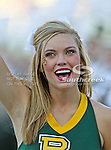 The Baylor Bears cheerleaders in action during the game between the Rice Owls and the Baylor Bears at the Floyd Casey Stadium in Waco, Texas. Baylor defeats Rice 56 to 31..