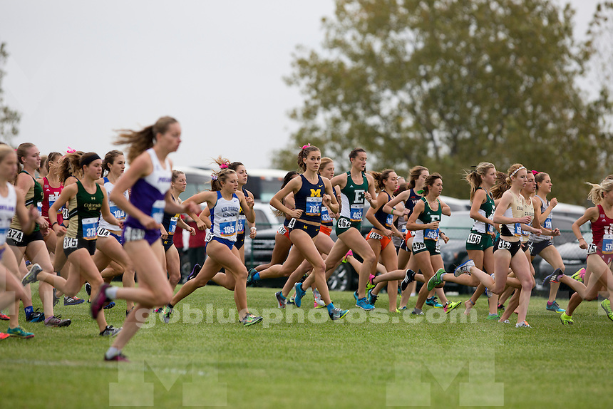 Michigan women's cross country runner Jamie Morrissey (784) competes at the Indiana State Pre-National Cross Country Invitational on Saturday, Oct. 15, 2016, in Terre Haute, Indiana. (Photo by James Brosher)