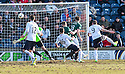 Raith Rovers' Mark Stewart (9) scores their first goal.