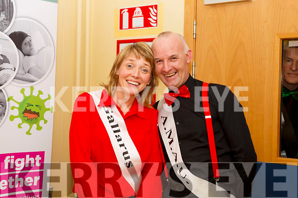 Hospital staff Catriona Kennedy and Patrick White, launching Strictly Come Dancing for Chemotherapy Day Unit in University Hospital Kerry  on Thursday last.