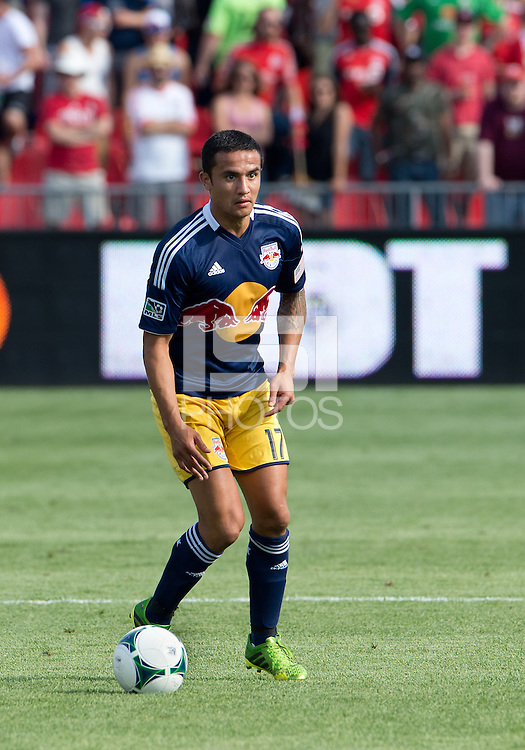 20 July 2013: New York Red Bulls midfielder Tim Cahill #17 in action during an MLS regular season game between the New York Red Bulls and Toronto FC at BMO Field in Toronto, Ontario Canada.<br /> The game ended in a 0-0 draw.