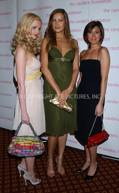 "WWW.ACEPIXS.COM . . . . . ....NEW YORK, MAY 9, 2006....Lydia Hearst, Petra Nemcova and Jamie-Lynn Sigler at the Candie's Foundation Presents the 3rd Annual ""Event to Prevent"" Gala......Please byline: KRISTIN CALLAHAN - ACEPIXS.COM.. . . . . . ..Ace Pictures, Inc:  ..(212) 243-8787 or (646) 679 0430..e-mail: picturedesk@acepixs.com..web: http://www.acepixs.com"