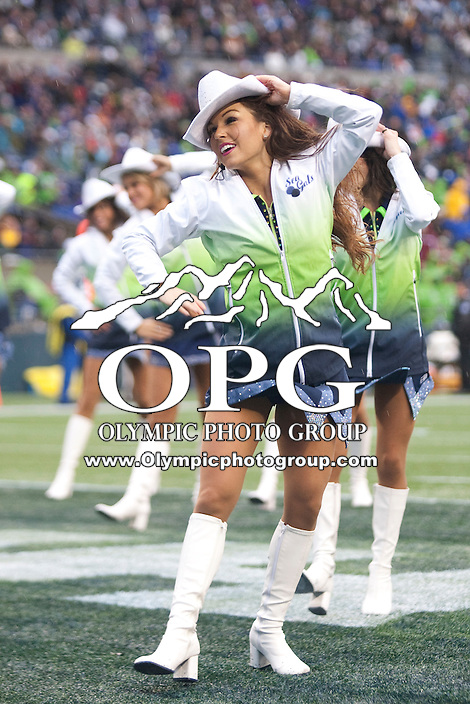 Nov 27, 2011: Seattle Sea Gals entertained the fans during the game against Washington.  Washington defeated Seattle 23-17 at CenturyLink Field in Seattle,WA.