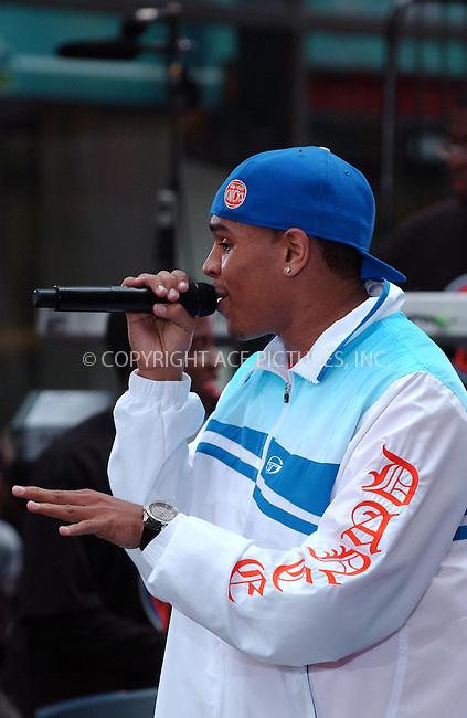 WWW.ACEPIXS.COM . . . . . ....August 31 2007, New York City....Rapper Chris Brown performed on NBC's 'Today Show' Concert Series at Rockefeller Center.........Please byline: KRISTIN CALLAHAN - ACEPIXS.COM.. . . . . . ..Ace Pictures, Inc:  ..tel: (646) 679 0430..e-mail: picturedesk@acepixs.com..web: http://www.acepixs.com