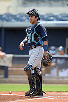 Tampa Bay Rays catcher Armando Araiza (71) during an Instructional League game against the Minnesota Twins on September 16, 2014 at Charlotte Sports Park in Port Charlotte, Florida.  (Mike Janes/Four Seam Images)