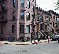 Street scenes in Hoboken, New Jersey on Saturday, July 21, 2012. (© Richard B. Levine)