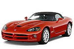 Front three quarter view of a 2008 Dodge Viper SRT.