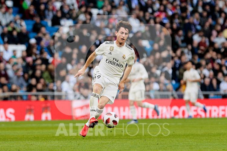 Real Madrid's Alvaro Odriozola during Copa del Rey match between Real Madrid and UD Melilla at Santiago Bernabeu Stadium in Madrid, Spain. December 06, 2018. (ALTERPHOTOS/A. Perez Meca)