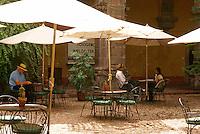 Outdoor cafe in San Miguel de Allende, Mexico. San Miguel de Allende is a UNESCO World Heritage Site....
