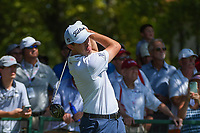 Patrick Cantlay (USA) watches his tee shot on 10 during round 1 of the 2019 Tour Championship, East Lake Golf Course, Atlanta, Georgia, USA. 8/22/2019.<br /> Picture Ken Murray / Golffile.ie<br /> <br /> All photo usage must carry mandatory copyright credit (© Golffile | Ken Murray)