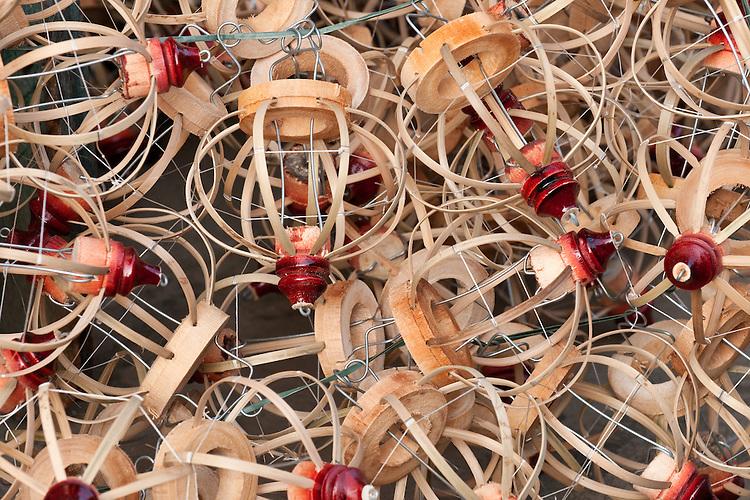 Bamboo frames for silk lanterns, Hoi An, Viet Nam