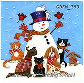 Kate, CHRISTMAS SANTA, SNOWMAN, WEIHNACHTSMÄNNER, SCHNEEMÄNNER, PAPÁ NOEL, MUÑECOS DE NIEVE, paintings+++++Christmas page 43,GBKM153,#x#