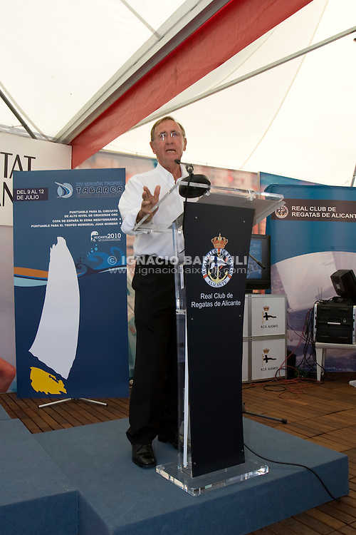 D. Francisco Zaragoza Zaragoza .XIV TROFEO TABARCA CIUDAD DE ALICANTE.Real Club de Regatas de Alicante, 9 al 12 de Julio de 2009